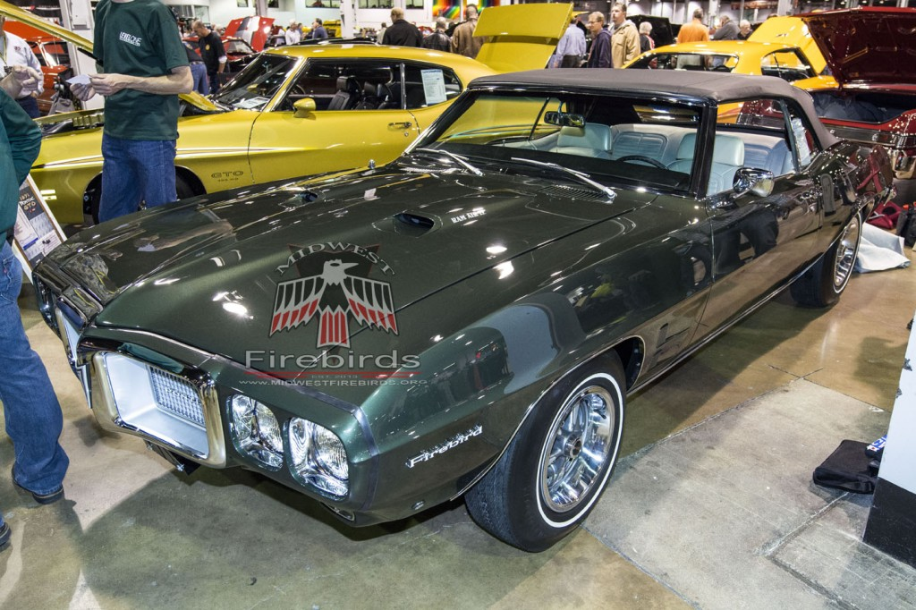 This 1969 Pontiac Firebird Ram Air IV was resored and on display at the 2013 Muscle Car and Corvette Nationals.