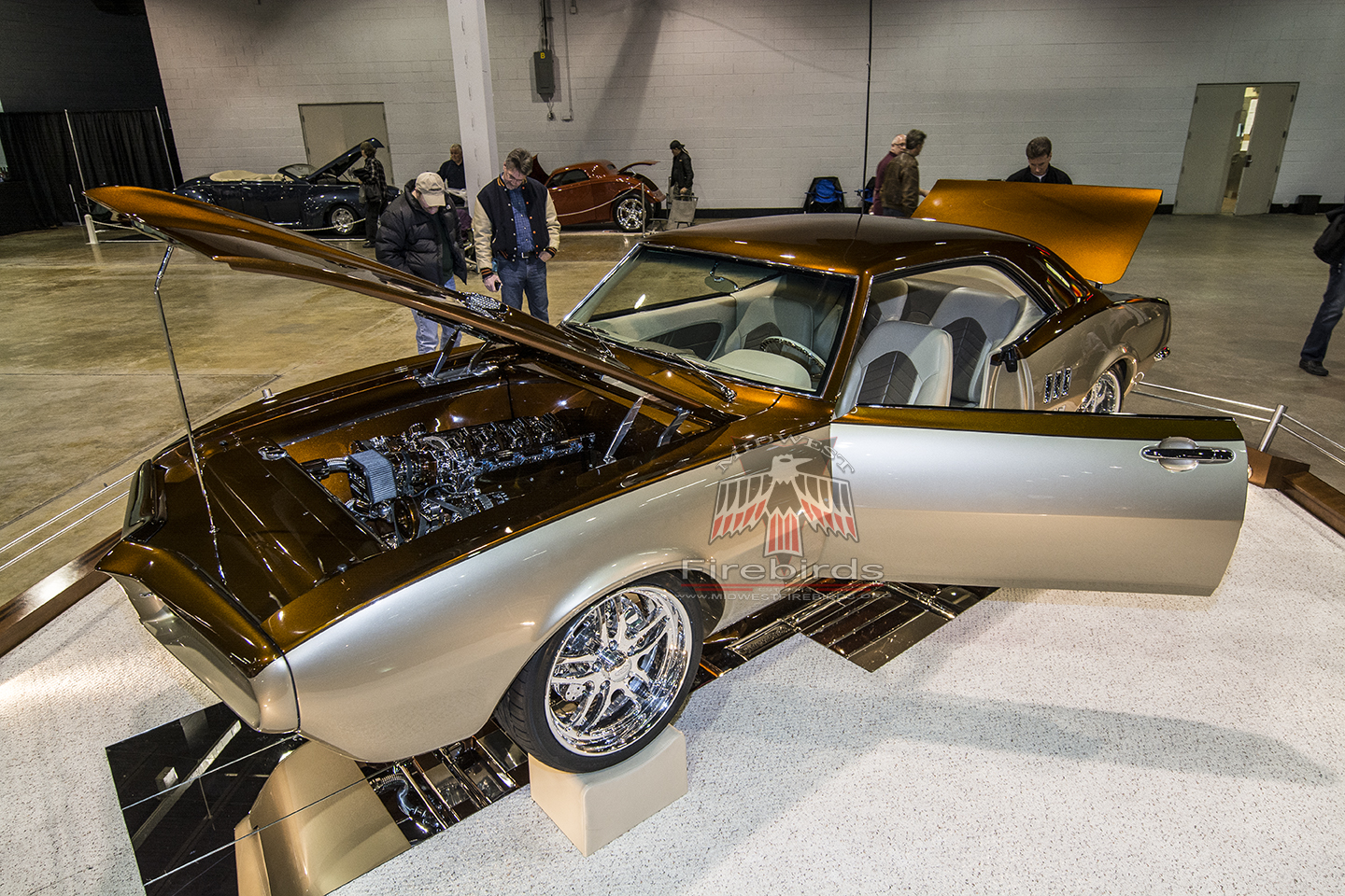 This custom 1967 Pontiac Firebird was displayed at the 2014 Chicago World of Wheels car show.