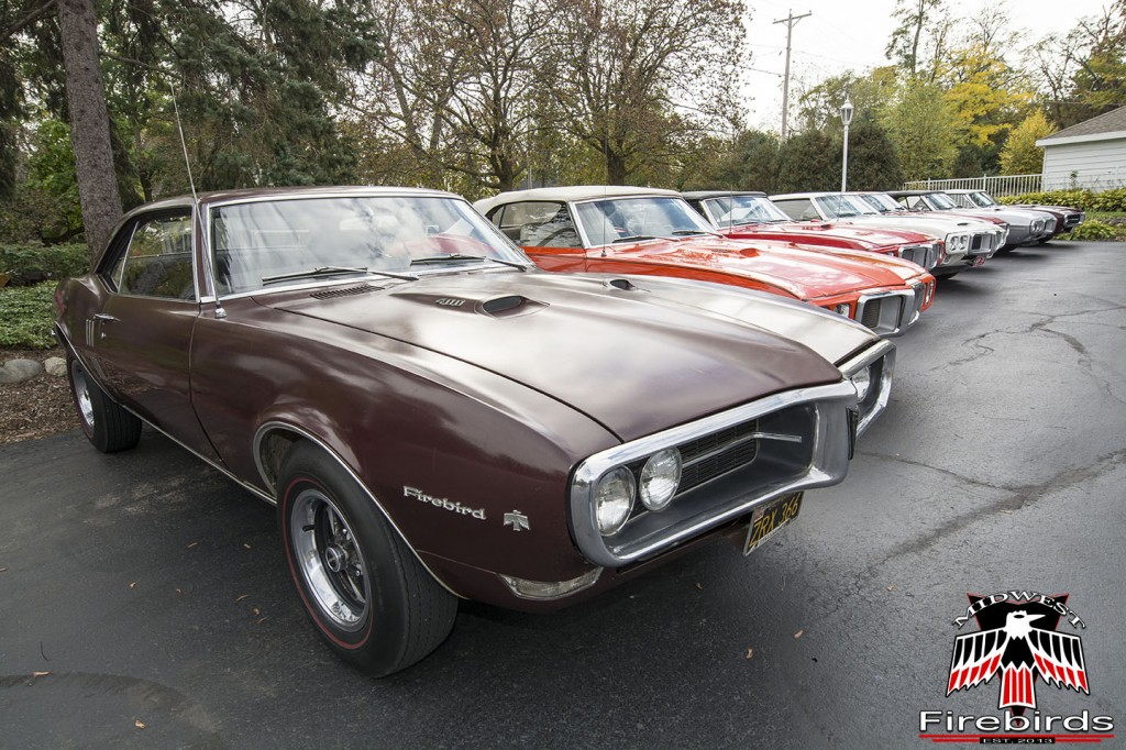 Seven first-generation Pontiac Firebirds attended the Midwest Firebirds first annual Fall Colors Cruise.