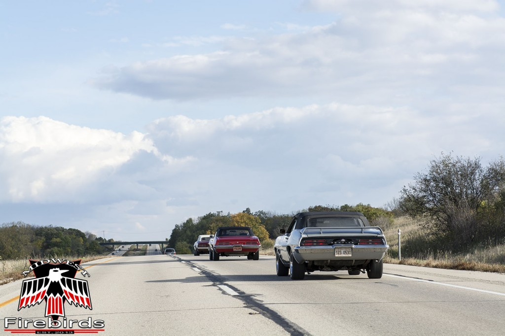 Seven first generation Pontiac Firebirds participated in the 2013 Midwest Firebird's cruise.