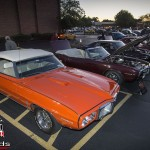 First generation Firebirds parked at the 2013 Rolling Meadows cruise night in Rolling Meadows, IL.