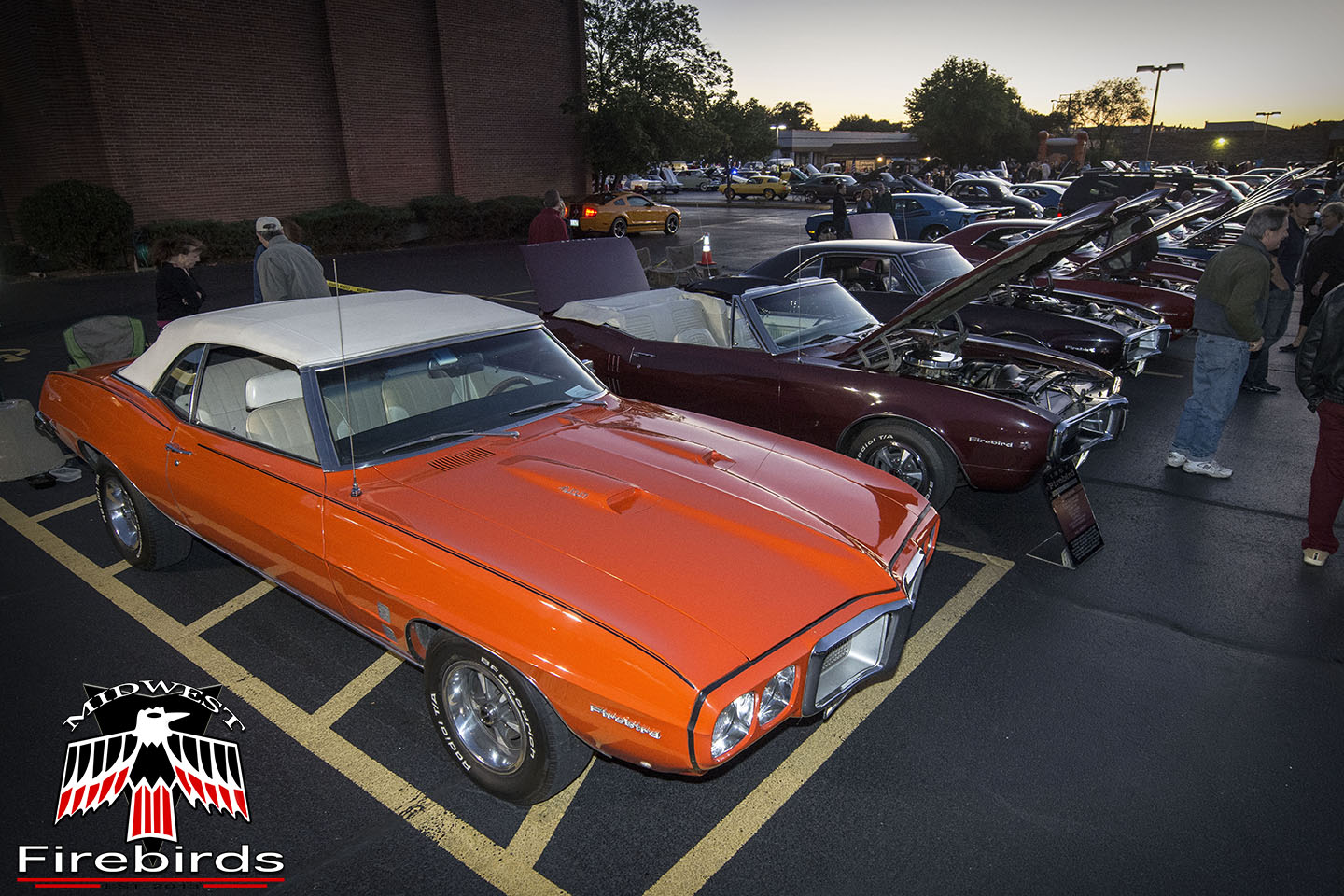 Firebirds parked at the 2013 Rolling Meadows cruise night in Rolling Meadows, IL.