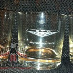 Vintage Pontiac dealership glass tumblers.