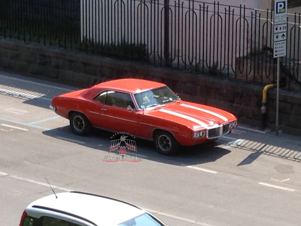 This 1969 Firebird was spotted in Lucca, Italy.