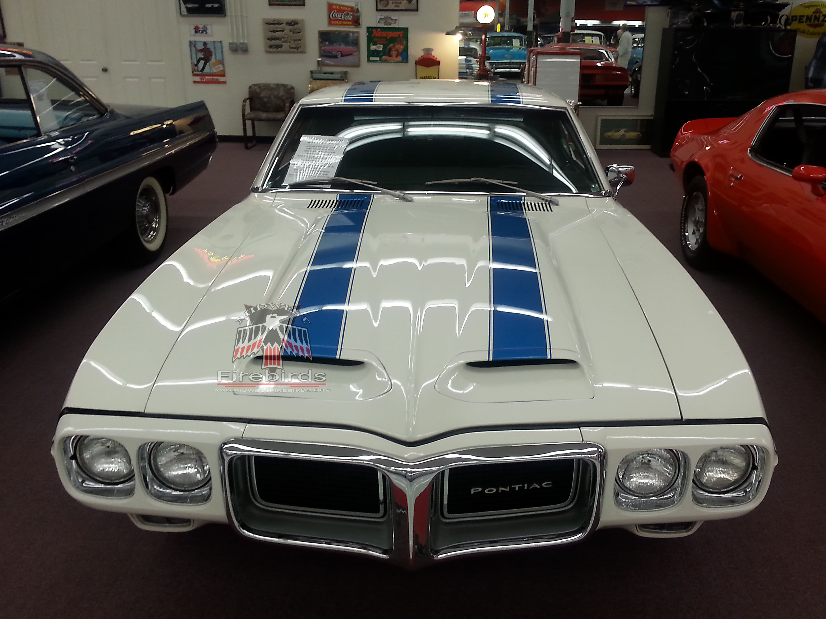 This 1969 Pontiac Firebird Trans Am coupe is displayed at the Muscle Car City Museum, in Punta Gorda, FL.