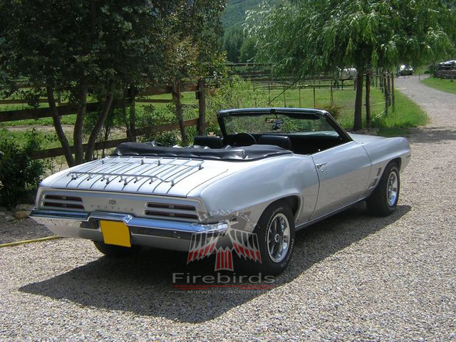 This 1969 Pontiac Firebird cruises the backroads in France.