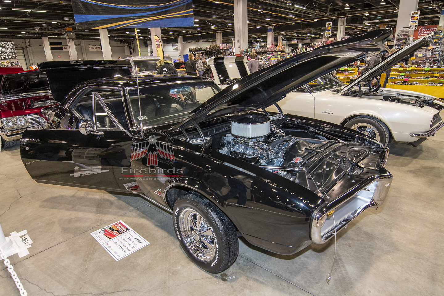 This black 1967 Pontiac Firebird coupe was on display at the 2014 World of Wheels Chicago car show.