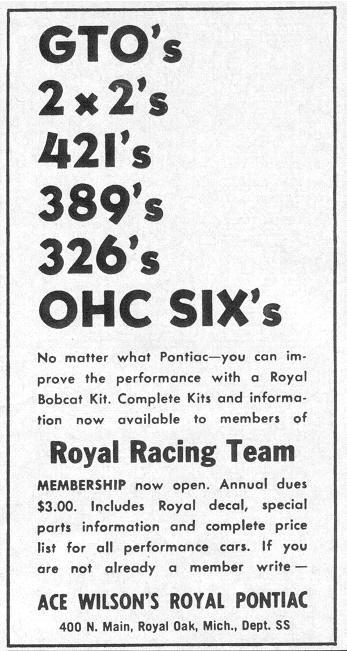 Royal Pontiac ad