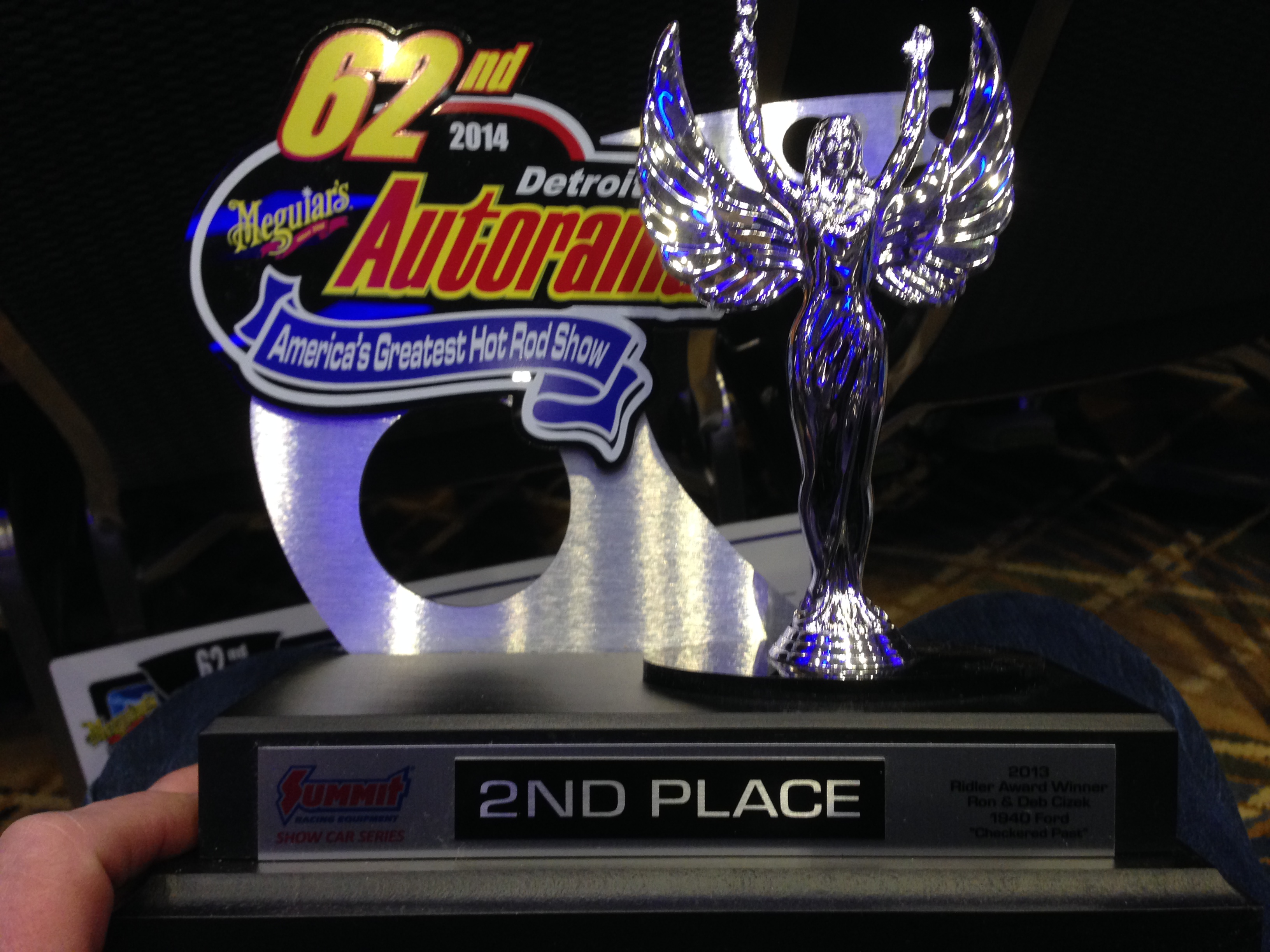 Black Car Autorama Trophy