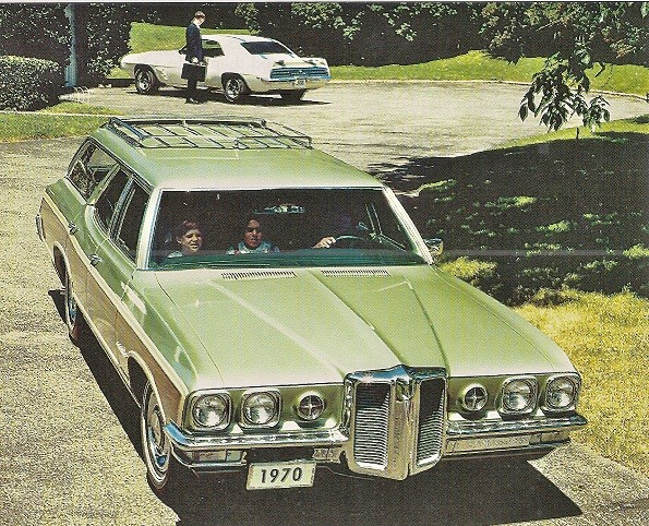 Mike Noun - 1970 Pontiac promo - 69 TA with 1970 plate in   background