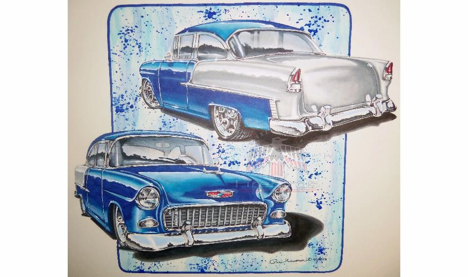 55 Chevy Watermark