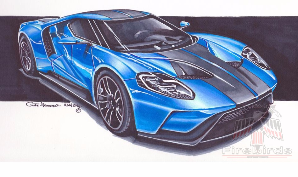 Blue Ford GT Watermark
